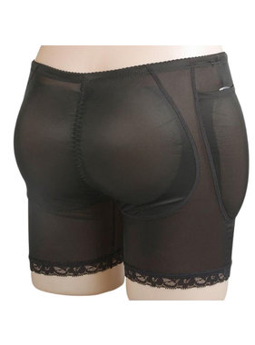 Premium Products Hip & Butt Enhancement Underwear with Silicone Pads (Black)
