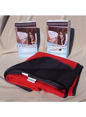 NoMoreWetSpot No More Wet Spot Waterproof Blanket Jumbo (Black/Red)