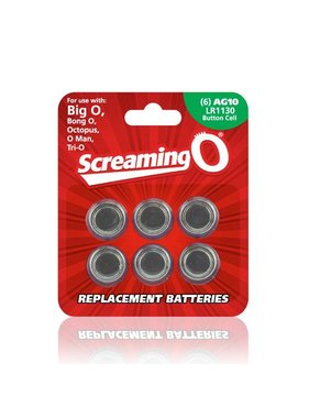 Screaming O Batteries: AG10 / LR1130 (6pk) [Screaming O]