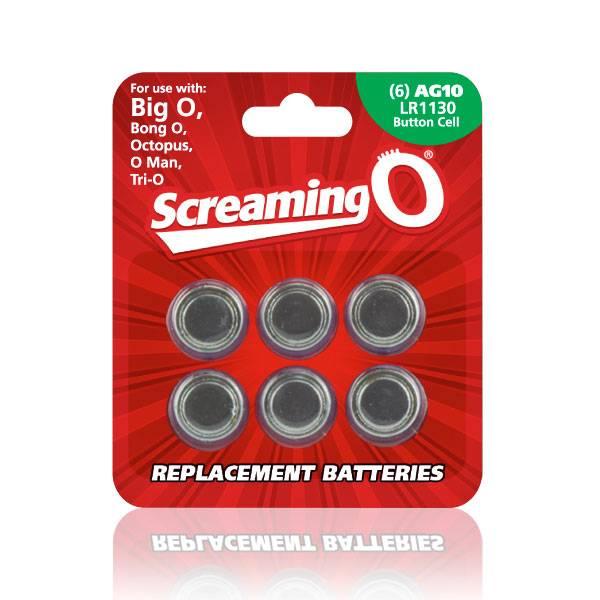 Screaming O Batteries: AG10 / LR1130 (6pk) [Screaming O]