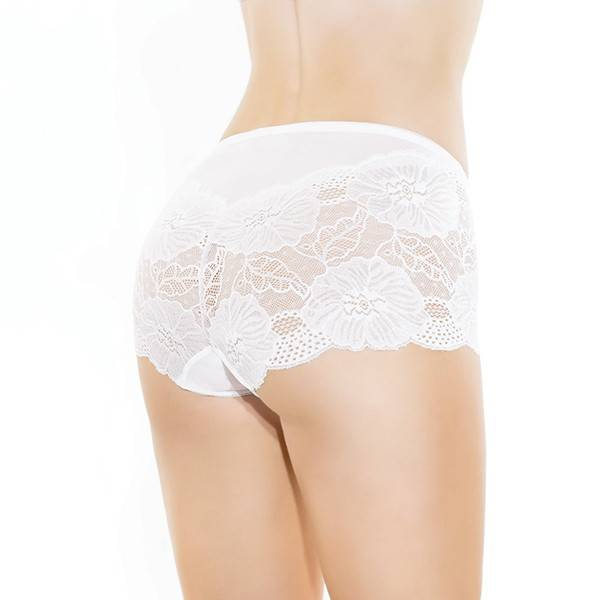Coquette International Lingerie Coquette High Waisted Lace Booty Short (One Size)
