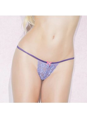 Coquette International Lingerie Coquette Periwinkle Adjustable G-string (One Size)