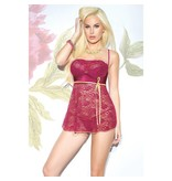 Coquette International Lingerie Coquette Raspberry and Lemon Babydoll Set