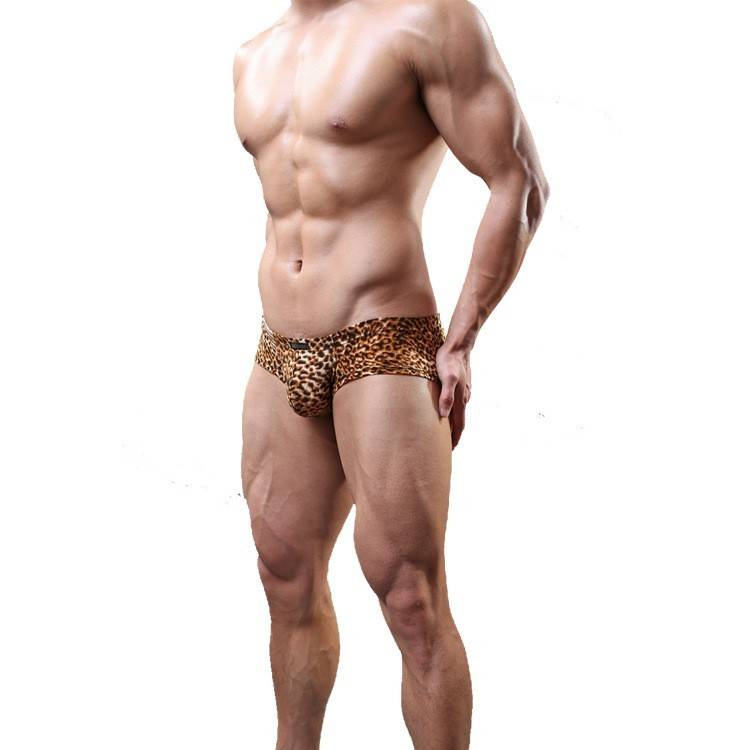 Premium Products Men Leopard Low Rise Boxer Brief