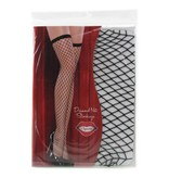 Coquette International Lingerie Black Diamond Net Thigh High Stockings