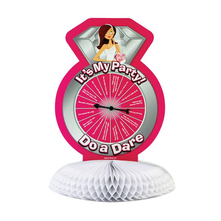Ball & Chain It's My Party... Dare Spinner Centrepiece