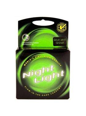 Night Light Glow in the Dark Condoms 3 Pack