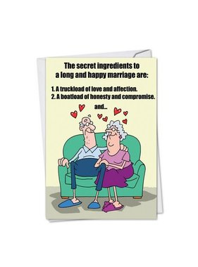 Noble Works Cards (Greeting Card) Marriage Secrets Anniversary Card