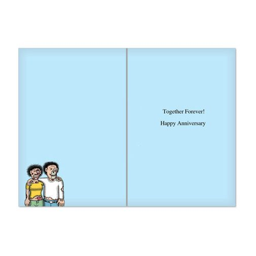 Noble Works Cards (Greeting Card) Zombie Marriage Anniversary Card