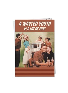 Noble Works Cards (Greeting Card) Wasted Youth Anniversary Card