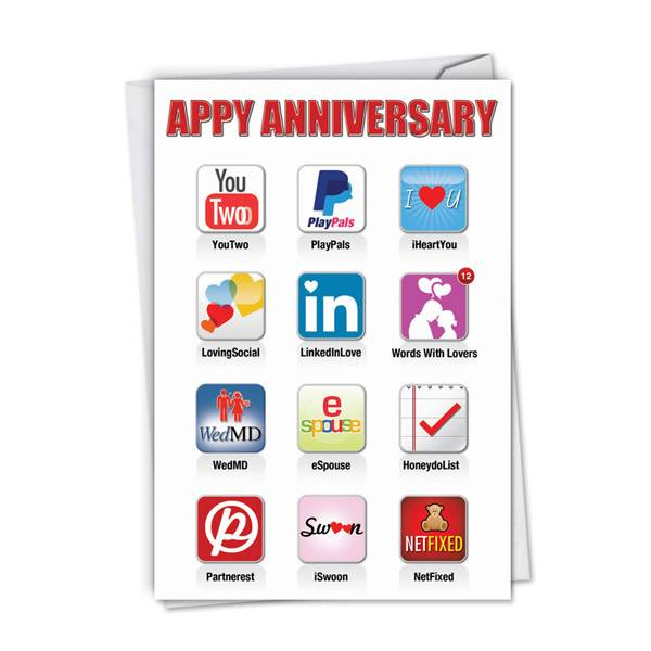 Noble Works Cards (Greeting Card) Appy Anniversary Card