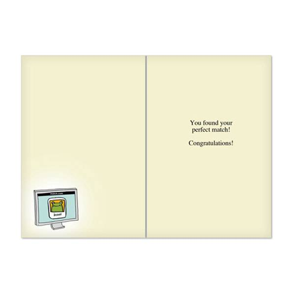 Noble Works Cards (Greeting Card) Princess Match Bachelorette Card