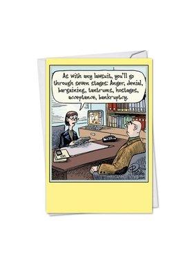 Noble Works Cards (Greeting Card) Seven Stages Divorce Card