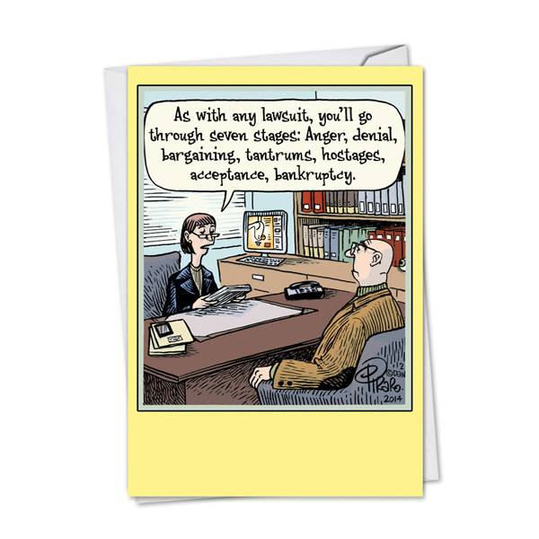 Noble Works Cards (Greeting Card) Seven Stages Divorce Card