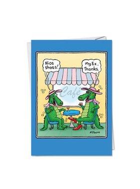 Noble Works Cards (Greeting Card) Alligator's Husband Divorce Card
