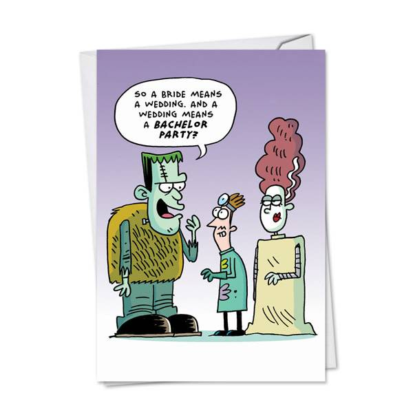 Noble Works Cards (Greeting Card) Monster Engagement Card