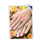 Noble Works Cards (Greeting Card) Wedding Hands Man/Man Card