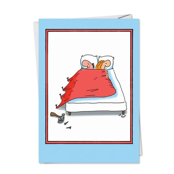 Noble Works Cards (Greeting Card) Nail Bed Anniversary Card