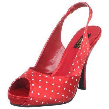 Pleaser USA CUTIEPIE-03 Peep Toe Slingback Sandal