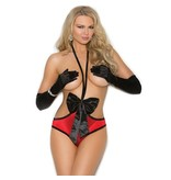 Elegant Moments Lingerie That's a Wrap! Satin Teddy