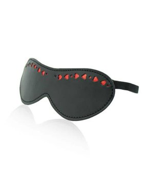 Premium Products Leather Blindfold with Red Heart Detailing