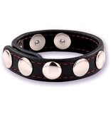 Premium Products Classic Leather Adjustable Snap Cock Ring