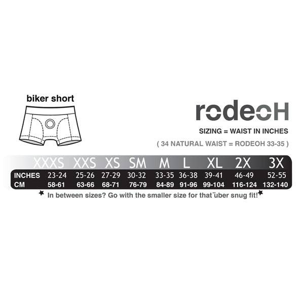 RodeoH RodeoH Tri-Color Biker Booty Short