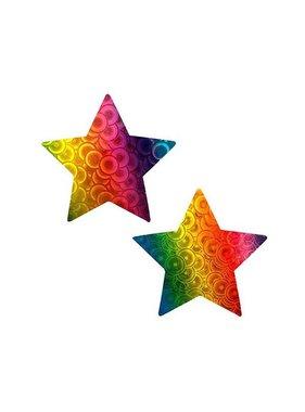 Neva Nude Kaleidoscope Trippy Holographic Star Pasties