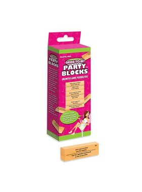 Ball & Chain Bride-to-be Party Blocks Game