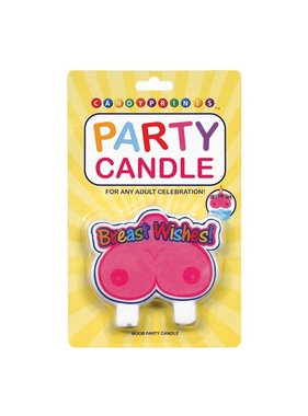 Candyprints Breast Wishes Party Candle