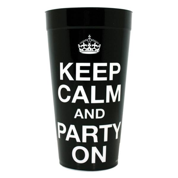 Keep Calm and Party On Plastic Drinking Cup