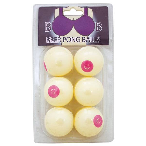 Island Dogs Boob Beer Pong Balls (Pack of 6)
