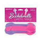 Pipedream Products Bachelorette Pecker Shaped Balloons (6 Pack)