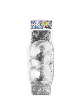 Pipedream Products Foil Boobie Disposable Cake Pan - Set of 2