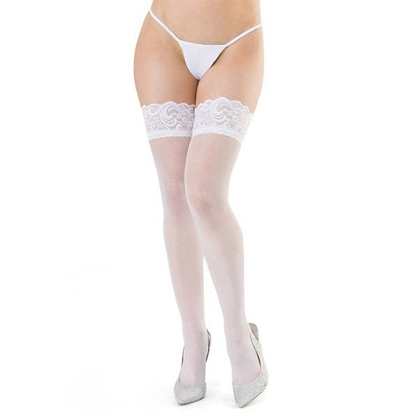 """Coquette International Lingerie """"Bride to Be"""" Sheer Thigh Highs"""