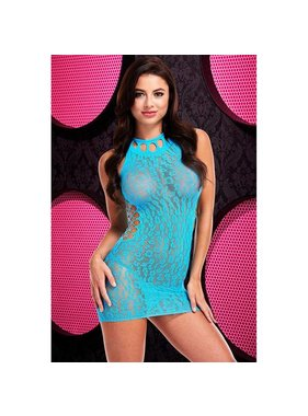 Lapdance Lingerie Lapdance Lingerie Mystic Blue Cheetah Print Mini Dress (One Size)