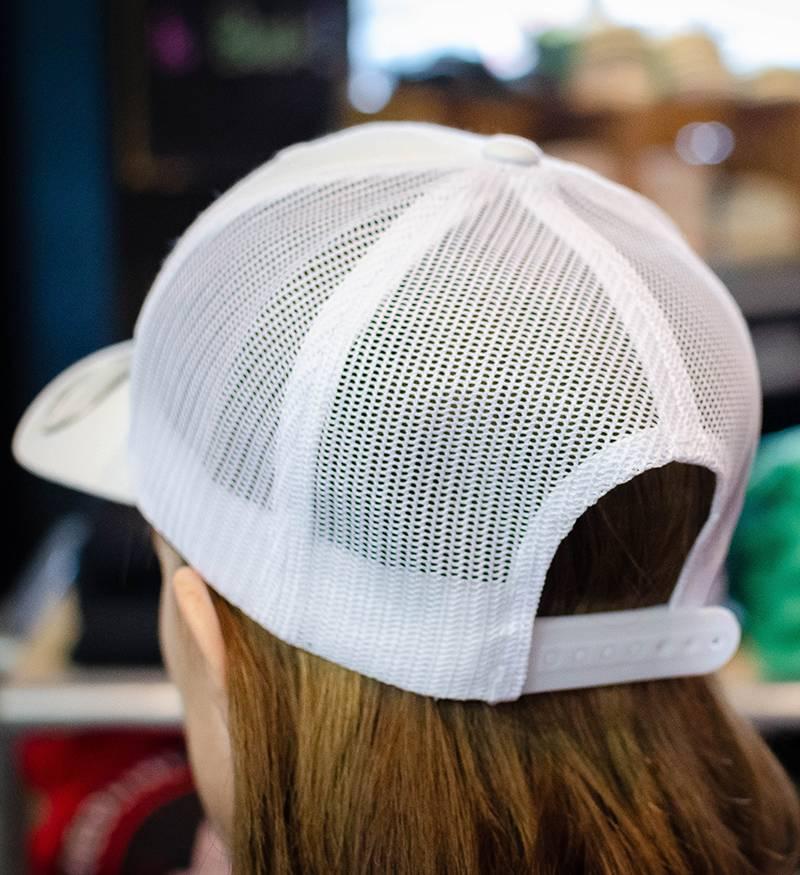 Yupoong White Snap-back with RB baseball logo