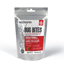 Aquaria Nutrafin Bug Bites Cichlid Formula – Medium to Large Fish – 5-7 mm pellets – 450 g