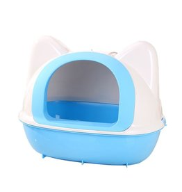 Dog & cat (W) AT Kitty Kan Litter Pan - Blue