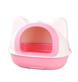 Dog & cat (W) AT Kitty Kan Litter Pan - Pink