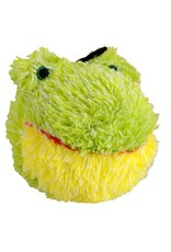 Dog & cat AT EZ Squeaky Plush Toy - Frog - 4""