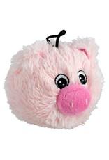 "Dog & cat AT EZ Squeaky Plush Toy - Pig - 4"""