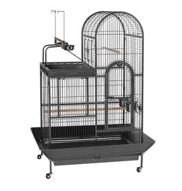 "Bird (W) Prevue Hendryx<br /> Deluxe Parrot Bird Cage with Playtop - Black - 36.5"" x 27.38"" x 63.5"""