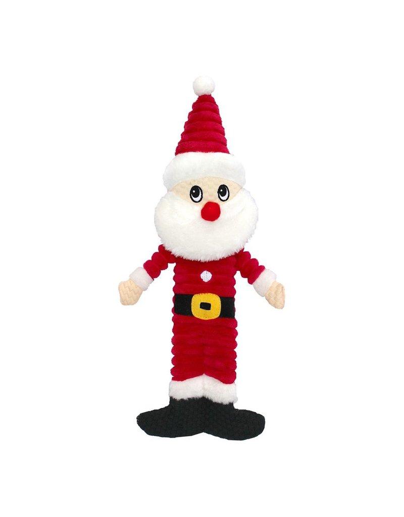 "Dog & cat (D) AT X-Mas Plush Dog Toy - Santa - 12"""