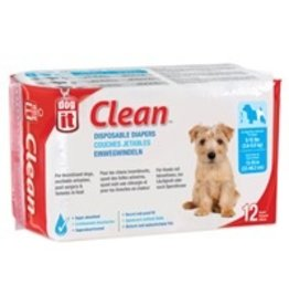 Dog & cat Dogit Diapers - Small - 8-15 lbs and waist 13-19 in - 12 pack