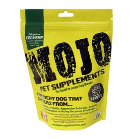 Dog &amp; cat (W)  Mojo Pet Supplements<br /> CBD Hemp Liver Snaps - 75 mg - 2.21 oz