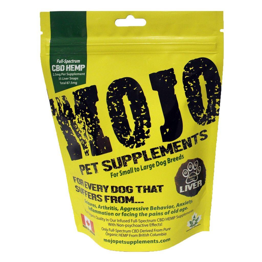 Dog & cat (W)  Mojo Pet Supplements<br /> CBD Hemp Liver Snaps - 75 mg - 2.21 oz