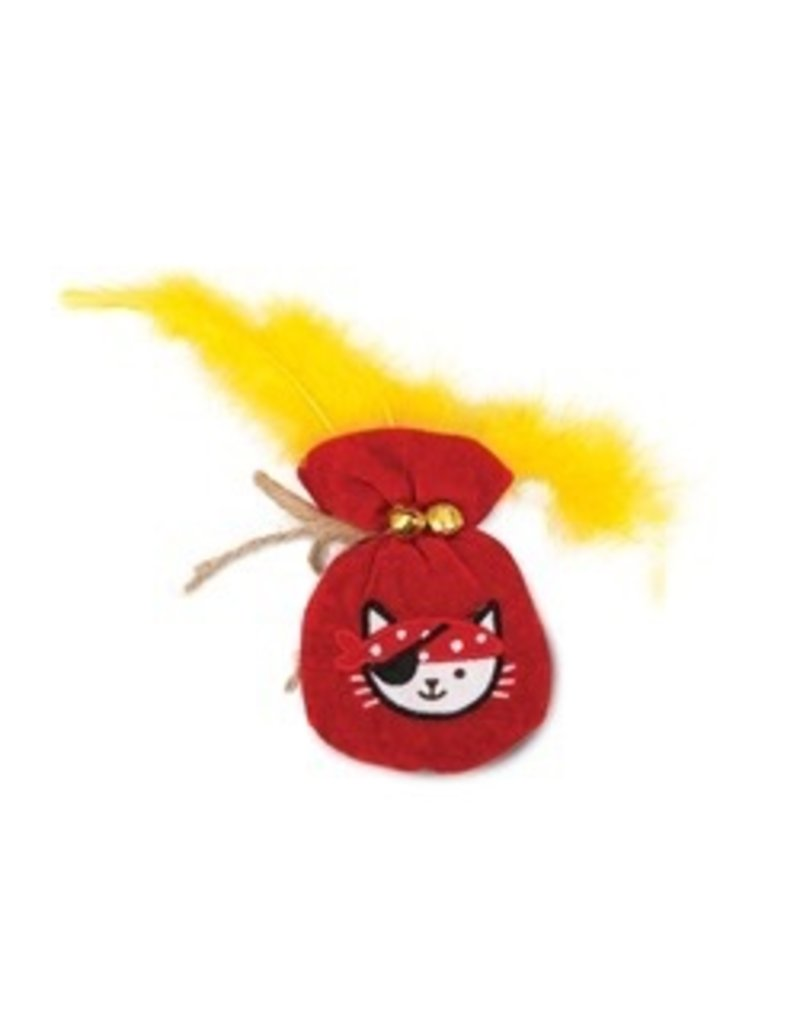 Dog & cat (W) Catit Play Pirates Catnip Toys - Plush Gold Pouch