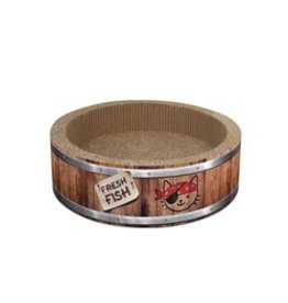 Dog & cat (W) Catit Play Pirates Barrel Scratcher with Catnip - Large - 42 cm (16.5 in)