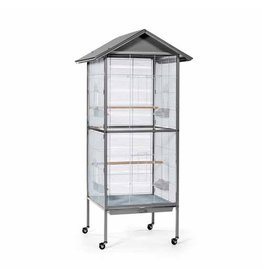 Bird Prevue Charming Aviary Large Flight Cage Pearl Grey